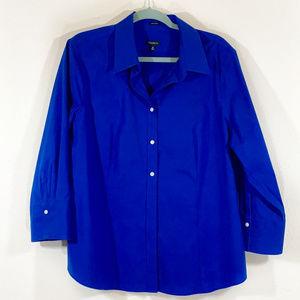 Talbots Blue wrinkle free button up dress shirt 20